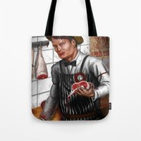 hannibal Tote Bags featuring HANNIBAL by Gart Graphisme