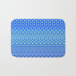 Mosaic Blue Bath Mat