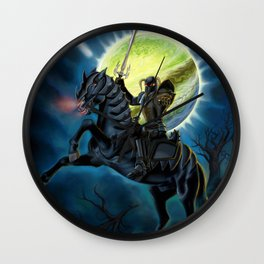 Heavy Metal Knights Wall Clock