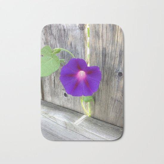 Flower | Flowers | Fence with Purple Flower Bath Mat