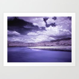 Dramatic River Scenics in Southern Taiwan Art Print