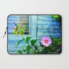 Country Blue Barn Wood Flag Laptop Sleeve