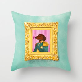 Dachshund the Romantique Throw Pillow