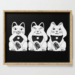 Three Smart Cats Serving Tray