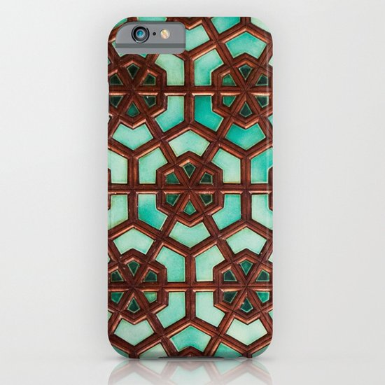 Turquoise orient iPhone & iPod Case