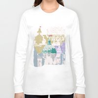 copenhagen Long Sleeve T-shirts featuring Copenhagen Collage by Tokyo Rose