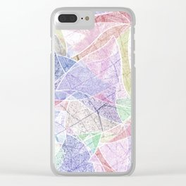 Abstract marble pattern. Clear iPhone Case