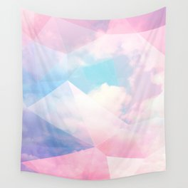 Cotton Candy Geometric Sky #homedecor #magical #lifestyle Wall Tapestry