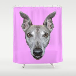 Whippet // Lilac (Vespa) Shower Curtain