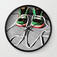 sneaker Wall Clocks featuring Sneaker Love by SefoG