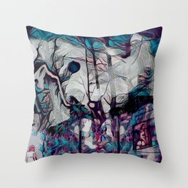 Within This Strange And Frightening World Throw Pillow