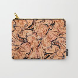 Orange,Black Marbling Carry-All Pouch
