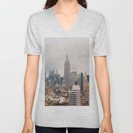 Empire State Building in Grey Unisex V-Neck