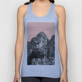 Part of Angkor Wat with beige Unisex Tank Top