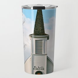 Country Church in the Mountians Travel Mug
