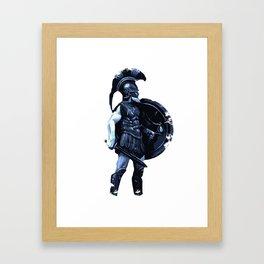 Greek hoplite warrior Framed Art Print