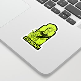 RBG Dissent in Green Sticker