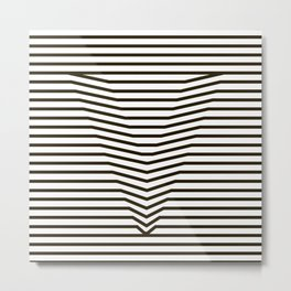 optical illusion Metal Print