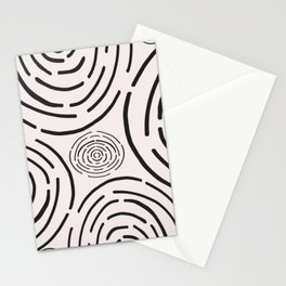 Line art circle pattern Stationery Cards