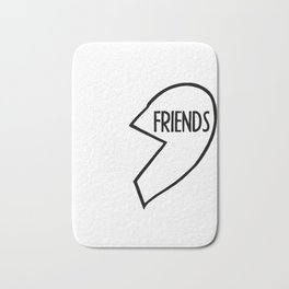 Best Friends T-Shirt I BFF, Couple, Burger Bath Mat