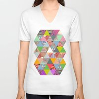 lost V-neck T-shirts featuring Lost in ▲ by Bianca Green