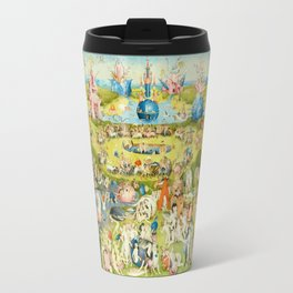 The Garden of Earthly Delights by Bosch Metal Travel Mug