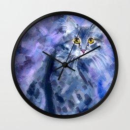Silver Soft Wall Clock