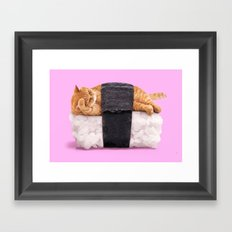 SUSHICAT Framed Art Print