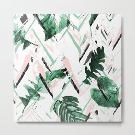 Tropical paint texture Metal Print