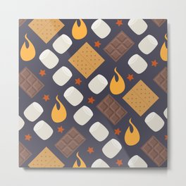 Smores on the Campfire Metal Print