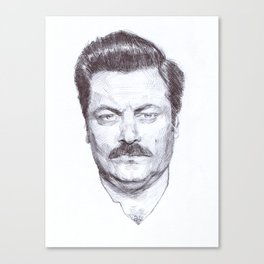 Ron Fucking Swanson Canvas Print