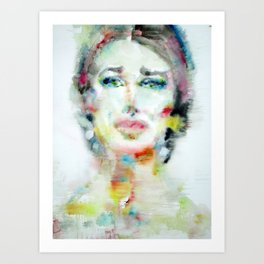 MARIA CALLAS - watercolor portrait Art Print