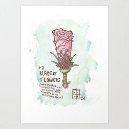 +2 Blade Of Flowers Art Print