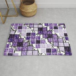 Purple | Squares Rug