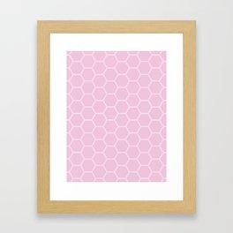 Honeycomb - Light Pink #326 Framed Art Print