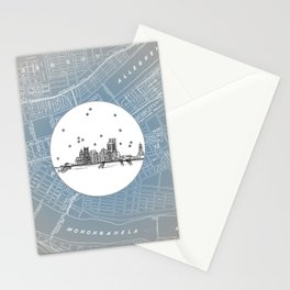 Pittsburgh, Pennsylvania City Skyline Illustration Drawing Stationery Cards