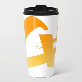 Capital Number Logo Metal Travel Mug