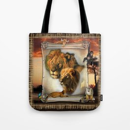 The Lion King from Africa Tote Bag