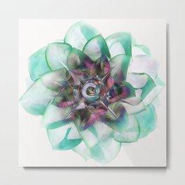 Abstract Houseleek Metal Print