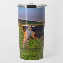 Cows Eating at Rural Environment, San Jose - Uruguay Travel Mug