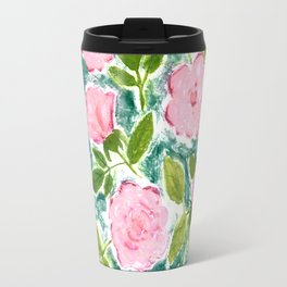 Roses in Bloom Travel Mug