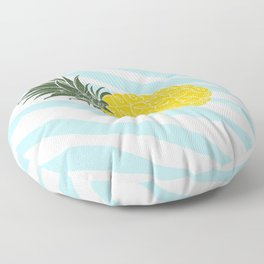 Vintage Pinapples on tropical beach. Abstract hand drawn illustration pattern. Floor Pillow