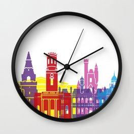 Aberdeen skyline pop Wall Clock