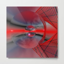 red sky in a glass Metal Print