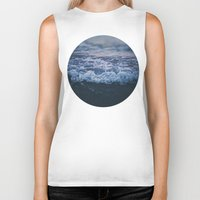 waves Biker Tanks featuring Waves by Leah Flores