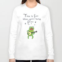 muppets Long Sleeve T-shirts featuring Muppets Kermit by BlackBlizzard