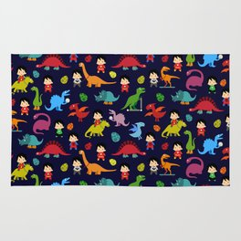heroes and dinosaurs Rug