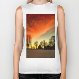 Dramatic Sunset Biker Tank