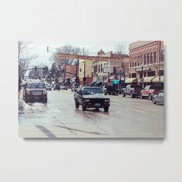Downtown Street - Sheridan, WY Metal Print