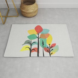 Tropical Groove (gray) Rug